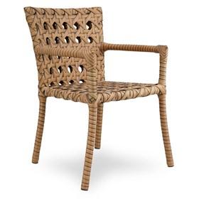 Cadeira C/Braços Marino em Alumínio Revestido de Fibras Sintéticas