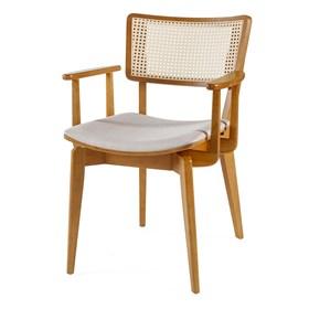 Cadeira Caiena C/Braço em Madeira Maciça