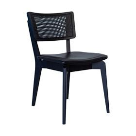 Cadeira Caiena em Madeira Maciça - Preto