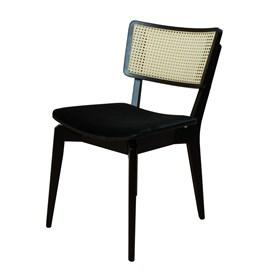 Cadeira Caiena em Madeira Maciça - Preto/Natural