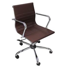 Cadeira Canarsie Giratória para Escritório em Couro