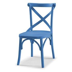 Cadeira Cenni em Madeira Maciça - Azul Ágata