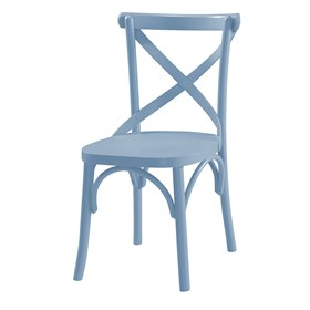 Cadeira Cenni em Madeira Maciça - Azul Celeste