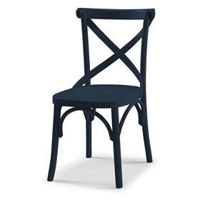 Cadeira Cenni em Madeira Maciça - Azul Marinho