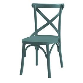 Cadeira Cenni em Madeira Maciça - Azul RAF
