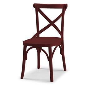 Cadeira Cenni em Madeira Maciça - Bordô