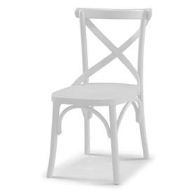 Cadeira Cenni em Madeira Maciça - Branco