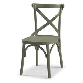 Cadeira Cenni em Madeira Maciça - Cinza