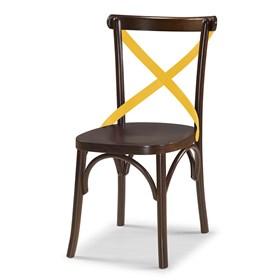 Cadeira Cenni em Madeira Maciça - Imbuia/Amarelo