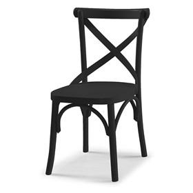 Cadeira Cenni em Madeira Maciça - Preto