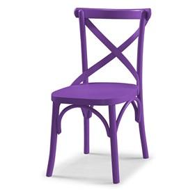 Cadeira Cenni em Madeira Maciça - Roxo