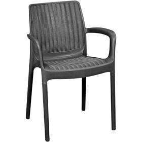 Cadeira Clarke em Resina - Marrom