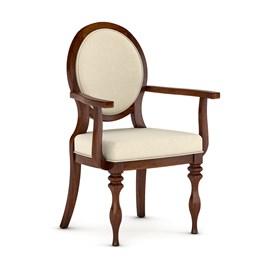 Cadeira Clifford C/ Braços em Madeira Maciça - Castanho