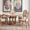Cadeira Clifford C/ Braços em Madeira Maciça - Champagne