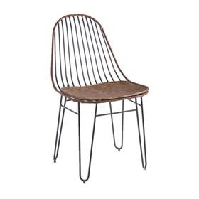 Cadeira Crazy C/ Assento em Couro Sintético