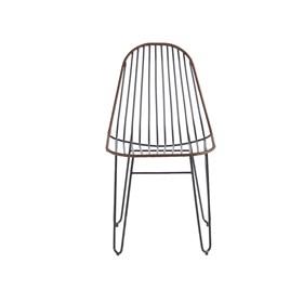 Cadeira Crazy em Aço Carbono com Detalhe em Couro