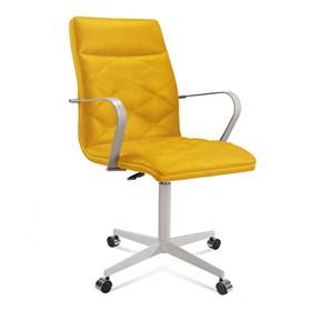 Cadeira de Escritório Coruscant Diretor em Suede - Amarelo