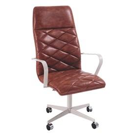 Cadeira de Escritório Coruscant Presidente em Couro Sintético - Caramelo