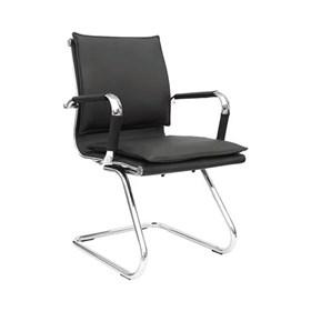 Cadeira de Escritório Estugarda em Couro Ecológico - Preto