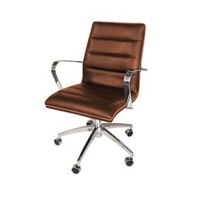 Cadeira de Escritório iStock Diretor em Veludo - Caramelo
