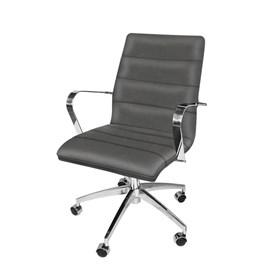 Cadeira de Escritório iStock Diretor em Veludo - Prata