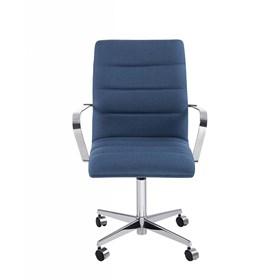 Cadeira de Escritório iStock em Linho C/4 Pés - Azul