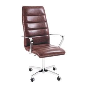 Cadeira de Escritório iStock Presidente em Couríssimo C/4 Pés - Caramelo