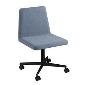 Cadeira de Escritório Woody em Estofado - Azul