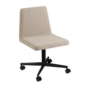Cadeira de Escritório Woody em Estofado - Bege