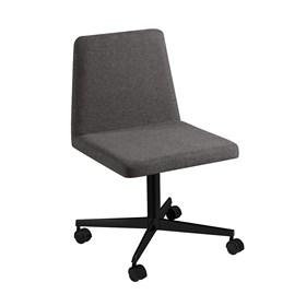 Cadeira de Escritório Woody em Estofado - Cinza