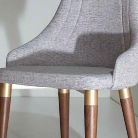 Cadeira de Jantar Evelyn Dourado C/Encosto Anatômico Alpha 80