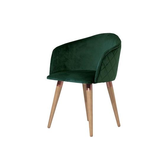 Cadeira Kari Ta Giratória Cinamomo em Veludo - Inca 11