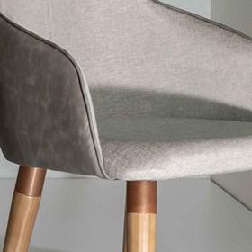 Cadeira de Jantar Martha Ta Cinamomo em Tecido Linho Linked 35
