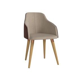Cadeira de Jantar Martha Ta Cinamomo em Tecido Linho Linked 75