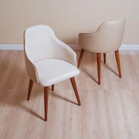 Cadeira de Jantar Martha Ta Natural em Tecido Linho Linked 02