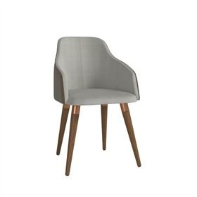 Cadeira de Jantar Martha Ta Natural em Tecido Linho Linked 35