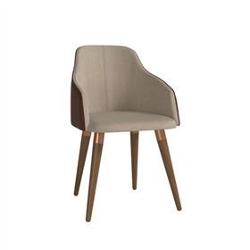 Cadeira de Jantar Martha Ta Natural em Tecido Linho Linked 75