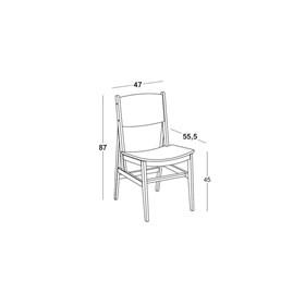 Cadeira de Jantar Onoki em Madeira Maciça