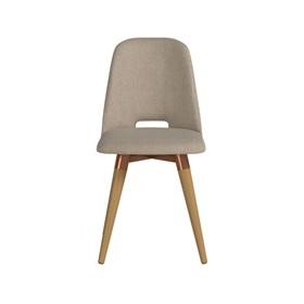 Cadeira de Jantar Selina Giratória Cinamomo em Linho Linked 75