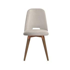 Cadeira de Jantar Selina Ta Giratória Natural em Veludo - Inca 02