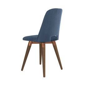 Cadeira de Jantar Selina Ta Giratória Natural em Veludo - Inca 06
