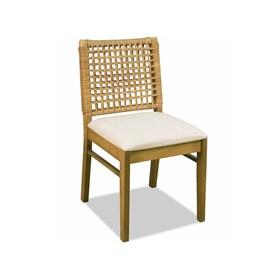 Cadeira Diana Rústica de Madeira Maciça
