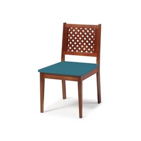 Cadeira Diana Treliçada em Madeira Maciça