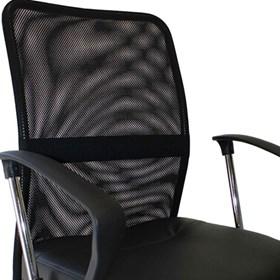 Cadeira Diretor Brodum Preta Couro Ecológico e Base Fixa