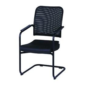 Cadeira Diretor Preta Fixa