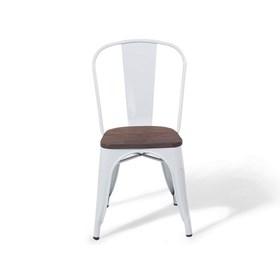 Cadeira Dresden de Metal Com Assento de Madeira