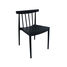 Cadeira Duisburgo com Assento em Madeira Tango