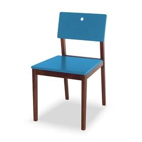 Cadeira Elgin em Madeira Maciça - Azul Ágata