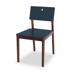 Cadeira Elgin em Madeira Maciça - Azul Marinho
