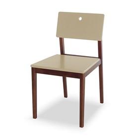 Cadeira Elgin em Madeira Maciça - Bege